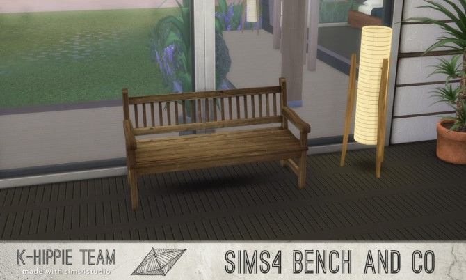 7 Benches Old Wood Serie volume 1 at K hippie image 183 670x402 Sims 4 Updates