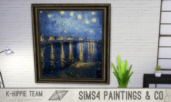 Sims 4 7 Paintings classiKa volume 3 at K hippie