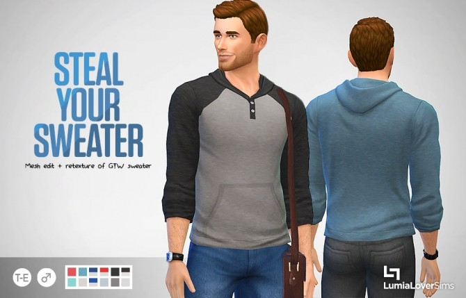 Sims 4 Sweater for males at LumiaLover Sims