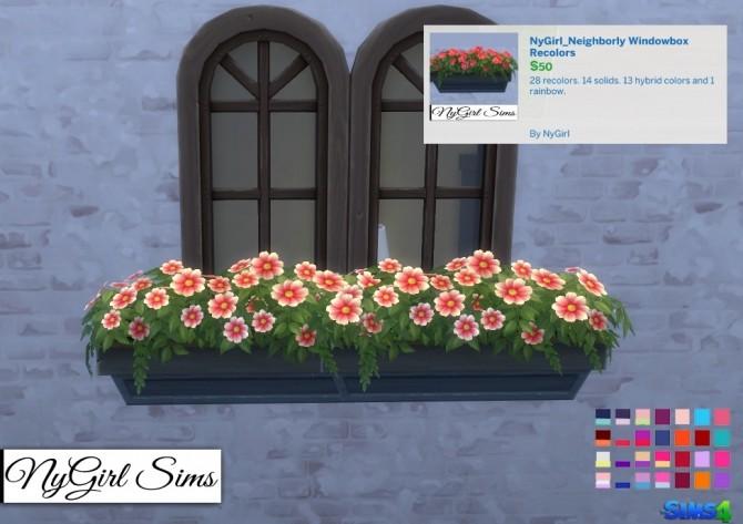 Neighborly Windowbox Recolors at NyGirl Sims image 1905 670x473 Sims 4 Updates