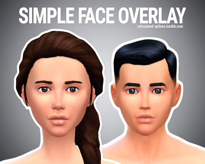 Simple Face Overlay At Reticulated Splines 187 Sims 4 Updates