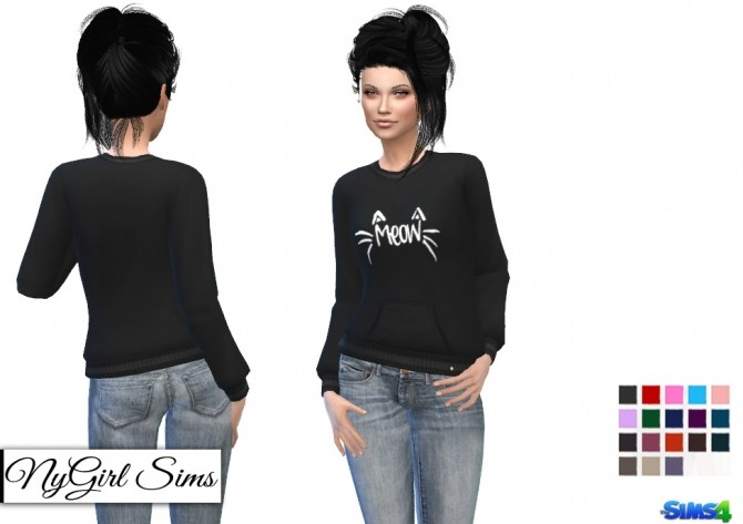 Sims 4 Cats Meow Sweater at NyGirl Sims