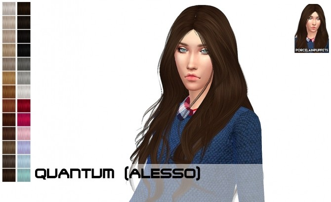 Sims 4 Alesso hairdump update at Porcelain Warehouse