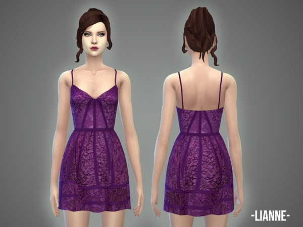 Sims 4 Lianne dress by April at TSR