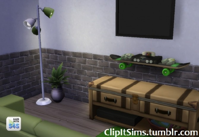 Functional skateboard shelf at Clipit Sims image 2028 670x461 Sims 4 Updates