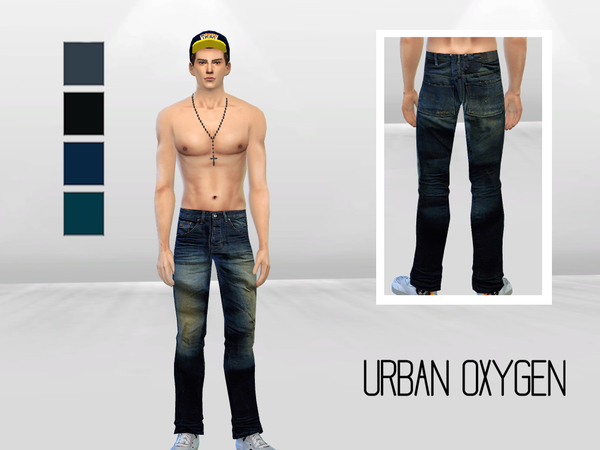 Sims 4 New Movement Faded Jeans by McLayneSims at TSR