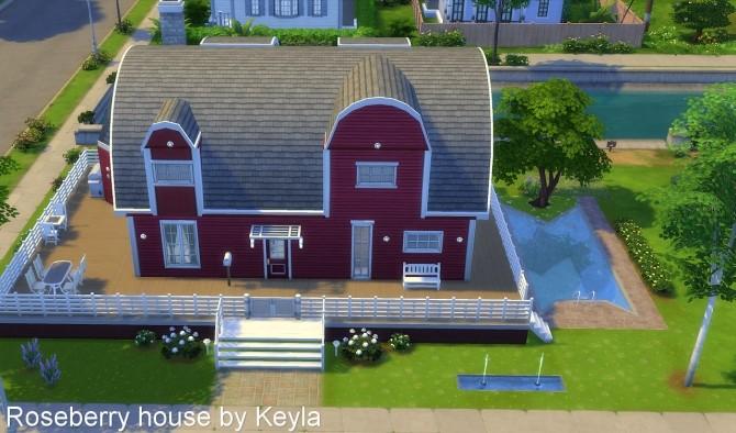Sims 4 Roseberry house at Keyla Sims