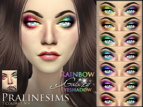 Rainbow Galaxy Eyeshadow by Pralinesims at TSR image 2116 Sims 4 Updates