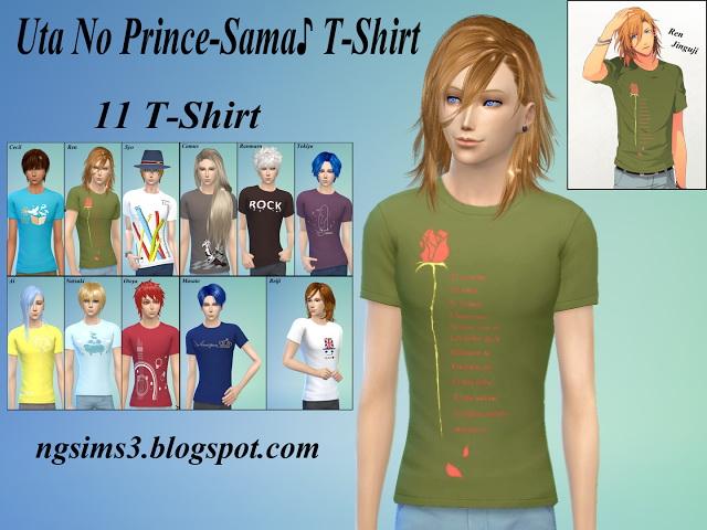 Uta No Prince Sama T Shirt at NG Sims3 image 2172 Sims 4 Updates