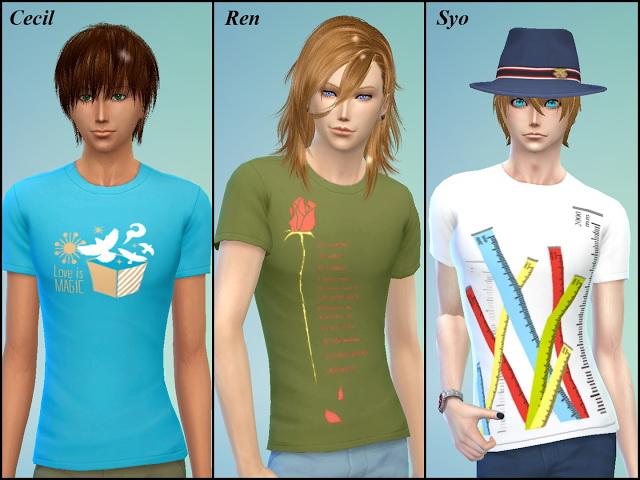 Uta No Prince Sama T Shirt at NG Sims3 image 2182 Sims 4 Updates