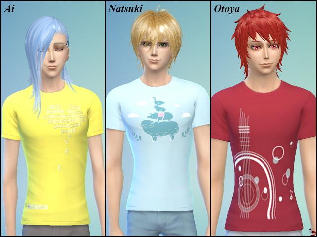 Uta No Prince Sama T Shirt at NG Sims3 image 2202 Sims 4 Updates