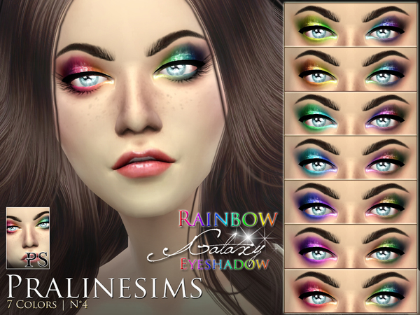 Rainbow Galaxy Eyeshadow by Pralinesims at TSR image 2214 Sims 4 Updates