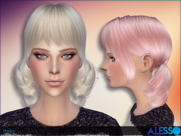 Sims 4 Himiko Hair by Alesso at TSR