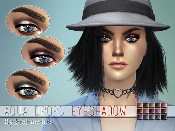 Sims 4 Aqua Drops Eyeshadow by Pralinesims at TSR