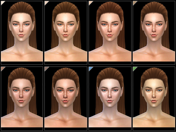 SHINY Skintones (F)1.0 by S Club WMLL at TSR image 229 Sims 4 Updates