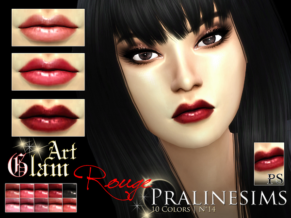 Art Glam Rouge Lipstick Set by Pralinesims at TSR image 230 Sims 4 Updates