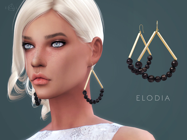 ELODIA Gold plated horn earrings by starlord at TSR image 2320 Sims 4 Updates