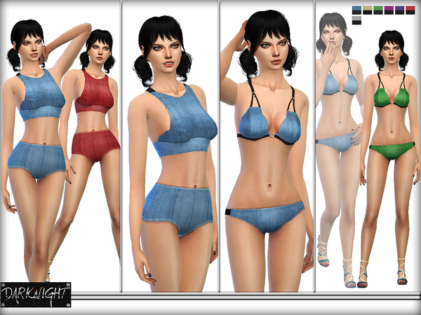 Sims 4 Stretch Denim Set by DarkNighTt at TSR