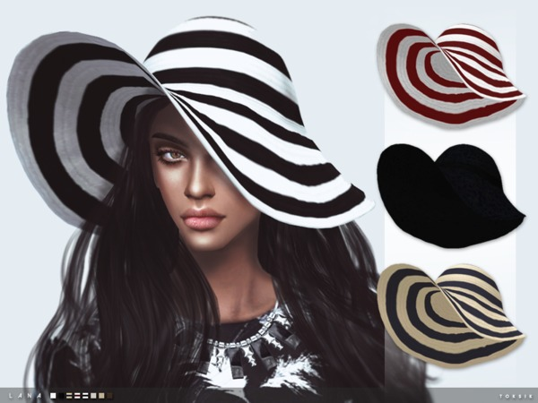 Sims 4 Lana Hat by toksik at TSR