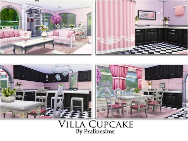 Sims 4 Villa Cupcake by Pralinesims at TSR