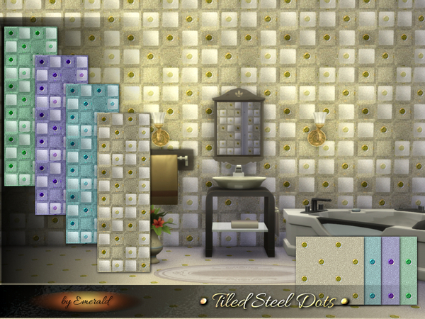 Tiled Steel Dots by emerald at TSR image 2519 Sims 4 Updates