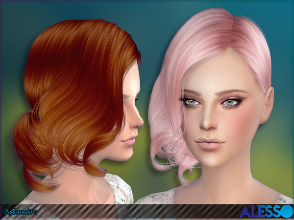 Aphrodite Hair by Alesso at TSR image 260 Sims 4 Updates