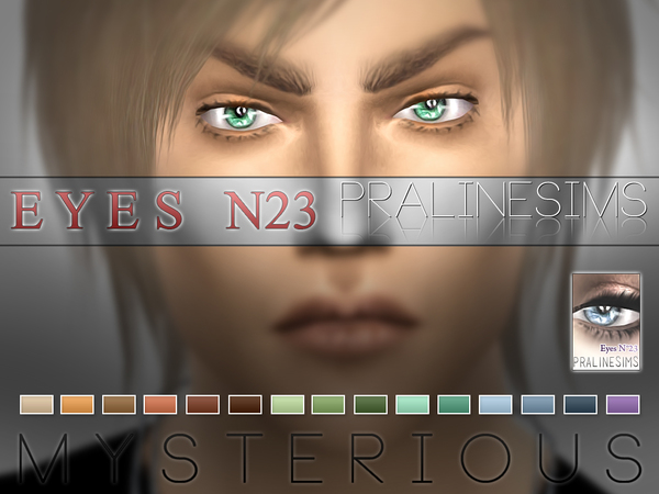 Sims 4 Mysterious Eyes N23 by Pralinesims at TSR