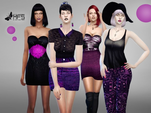 Sims 4 MFS Violet Mood by MissFortune at TSR