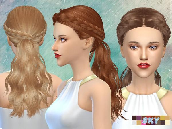 Sims 4 Hair 270 Tina by Skysims at TSR