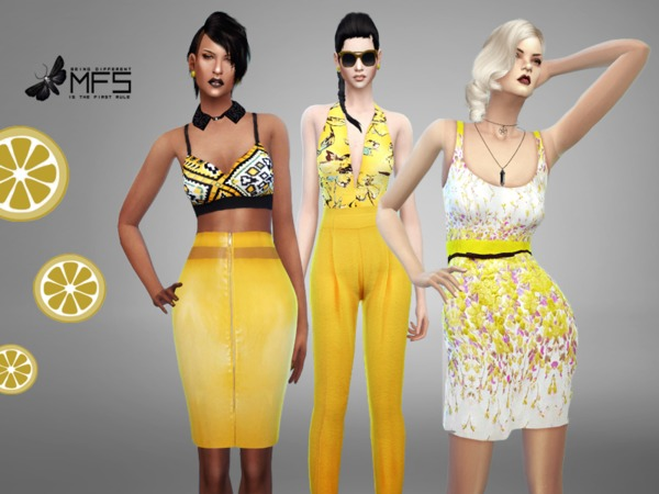 Sims 4 MFS Yellow Mood Collection by MissFortune at TSR