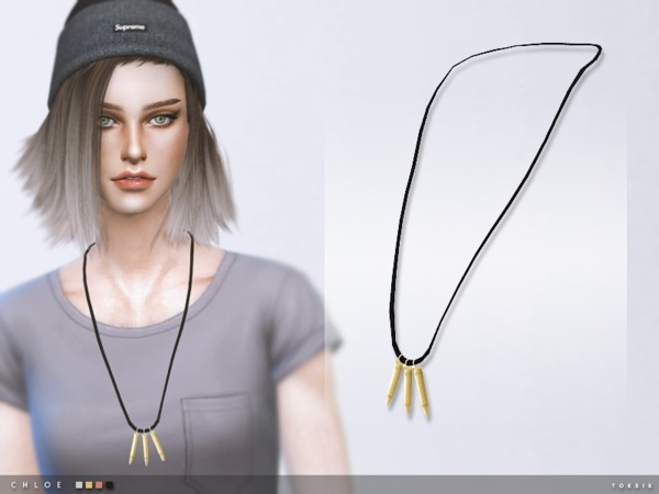 Sims 4 Chloe Necklace by toksik at TSR