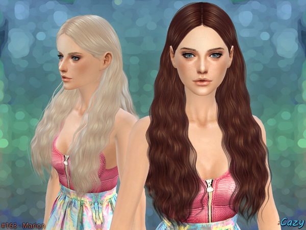 Sims 4 Marion Female Hair by Cazy at TSR