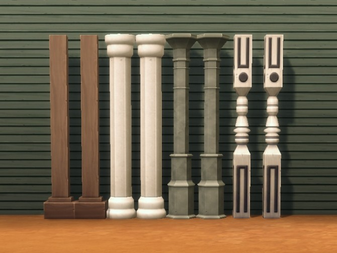 Four decorative columns by plasticbox at mod the sims for Decorative colums