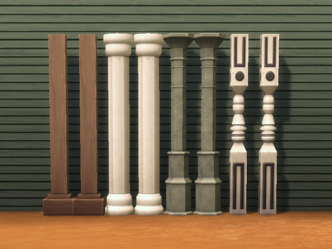Four decorative columns by plasticbox at mod the sims for How to build decorative columns