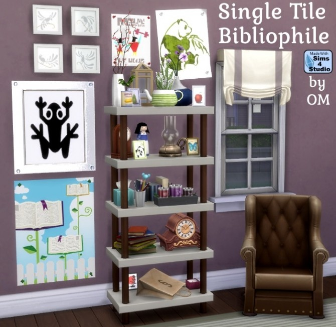 Single tile bibliophile bookcase by OM at Sims 4 Studio image 3129 670x652 Sims 4 Updates