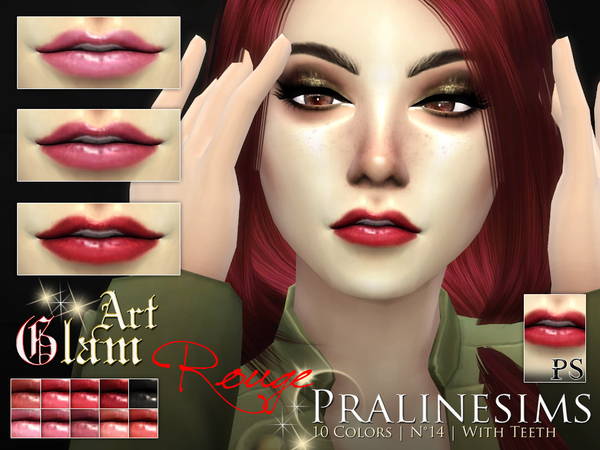 Art Glam Rouge Lipstick Set by Pralinesims at TSR image 330 Sims 4 Updates