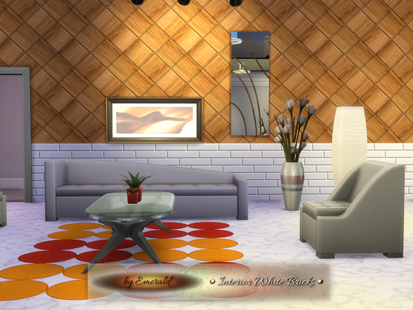 Interior White Bricks by emerald at TSR image 3313 Sims 4 Updates