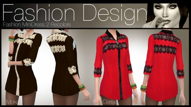 Sims 4 5 Recolor Brody Dresses by ZeneZis at Mod The Sims