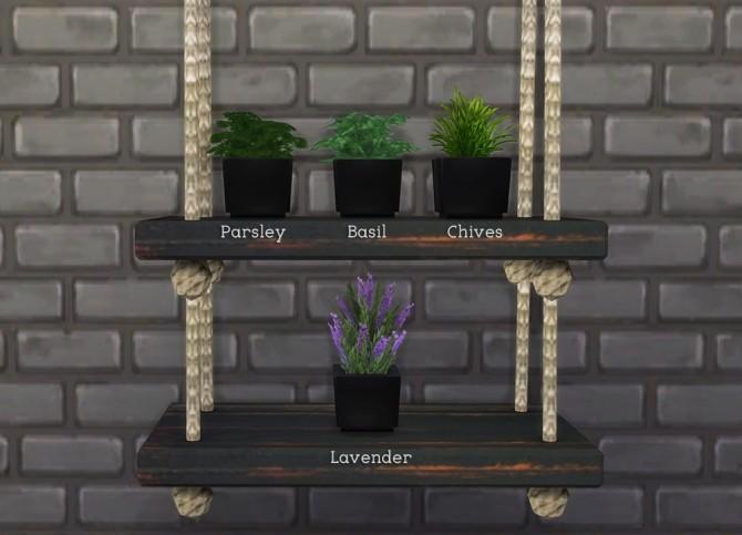 Sims 4 Urban Garden Herb Pots at Omorfi Mera
