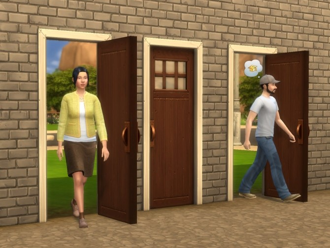 Sims 4 Mega (Budget) Doors by plasticbox at Mod The Sims