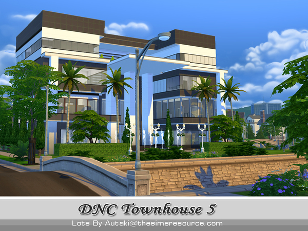 DNC Townhouse Design 5 by autaki at TSR image 3522 Sims 4 Updates