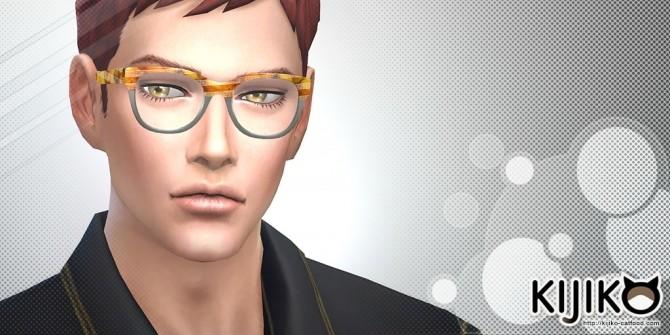 Semi Square Eyeglasses at Kijiko image 3619 670x335 Sims 4 Updates