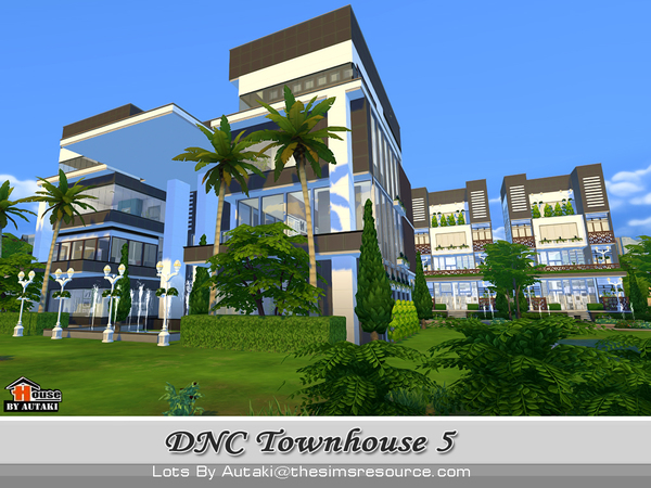 Sims 4 DNC Townhouse Design 5 by autaki at TSR