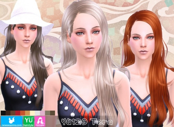 Sims 4 YU129 Tera hair (Pay) at Newsea Sims 4