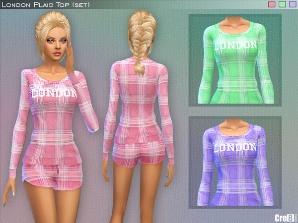 Sims 4 London Plaid (set) by Cre8Sims at TSR