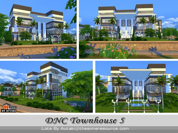 DNC Townhouse Design 5 by autaki at TSR image 3724 Sims 4 Updates