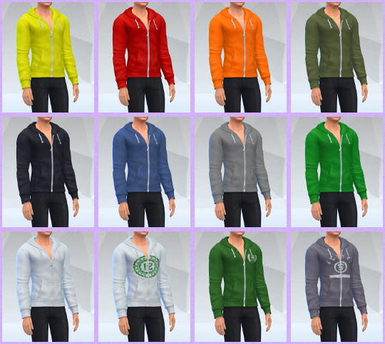 Sims 4 Basegame Hoodies With No Shirt by Spirashun at Mod The Sims