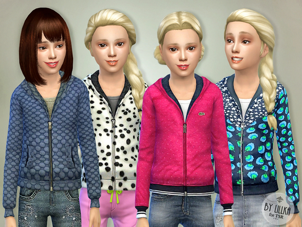 Sims 4 Jackets for Girls P01 by lillka at TSR