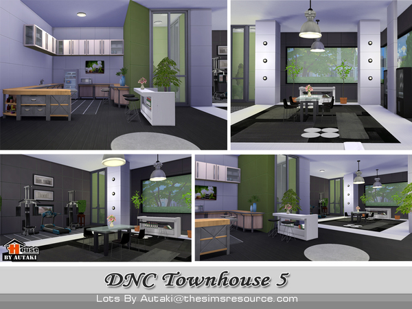 DNC Townhouse Design 5 by autaki at TSR image 3824 Sims 4 Updates