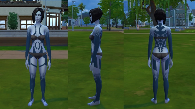 Cortana S Tattoo From Halo By Kitty25939 At Mod The Sims